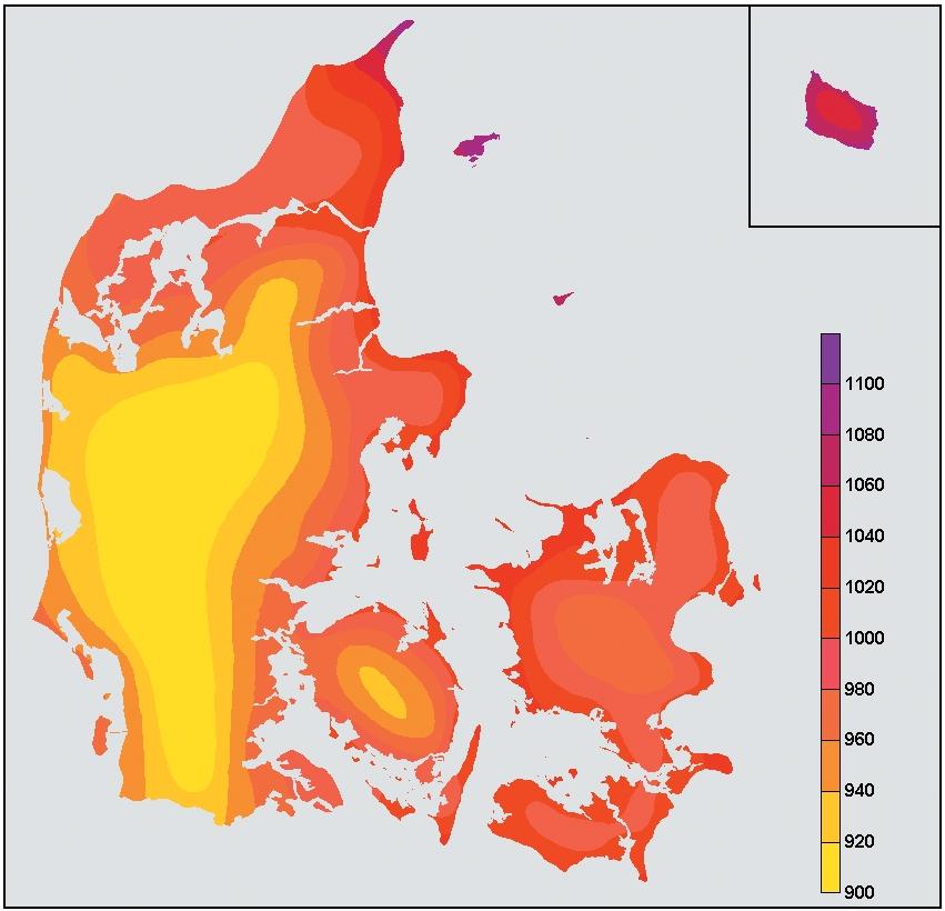 Sol indstråling i DK